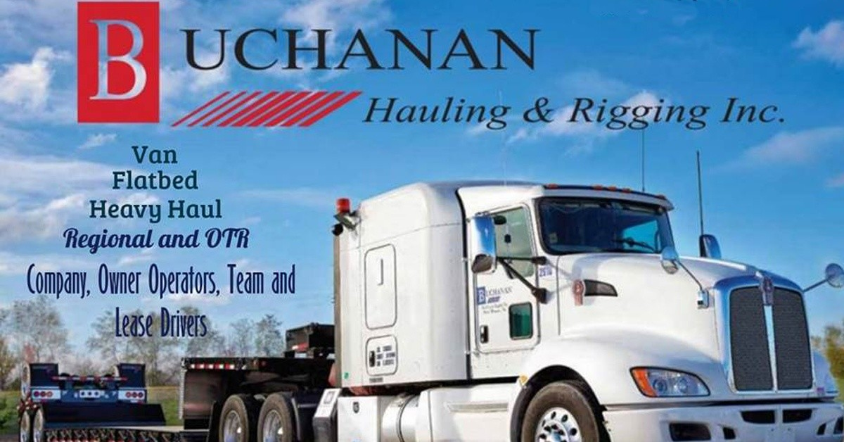 Buchanan Hauling & Rigging is looking for truck drivers.