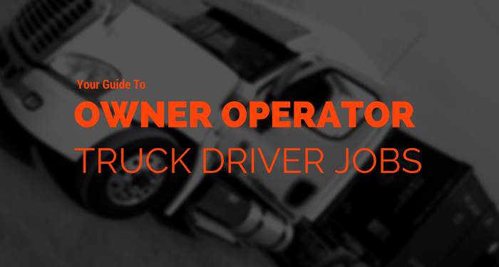 find owner operator truck drivers